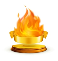 Golden flame vector image vector image