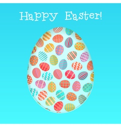 Happy easter card template with vector image vector image