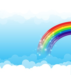 Rainbow cloud and sky background 003 vector image vector image