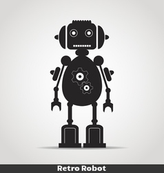 Robot with antena copy vector image vector image