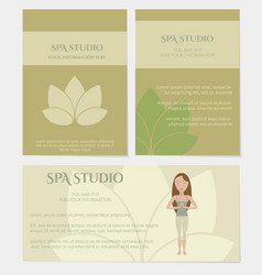 set of spa studio business cards vector image vector image