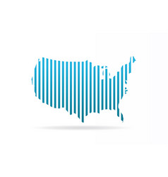 usa united states stripes map graphic vector image vector image