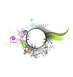 colorful abstract floral frame vector image