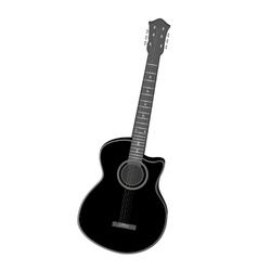 electric guitar instrument isolated vector image