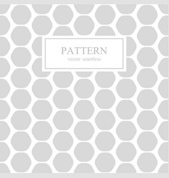hexagon seamless geometric pattern vector image vector image