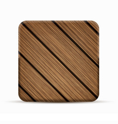 modern wooden icon on white background vector image vector image