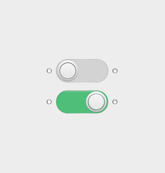 on off buttons vector image vector image