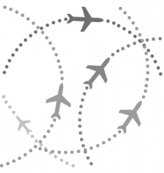 planes flying vector image vector image