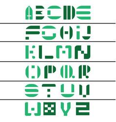 Stylish alphabets letters a-z font vector