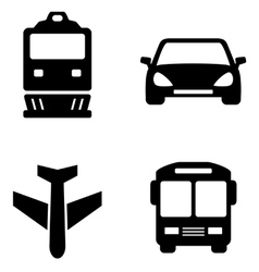 Transport set icons vector