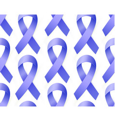 3d blue ribbon seamless pattern to colon cancer vector
