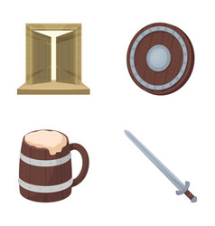 A gate to the treasure a shield for protection a vector