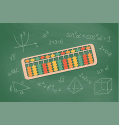 Abacus soroban for learning mental arithmetic vector