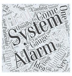 Alarm systems Word Cloud Concept vector