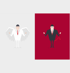 angel and devil businessman cartoon character vector image