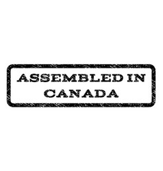 Assembled in canada watermark stamp vector