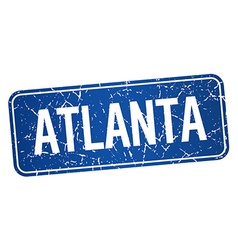 Atlanta blue stamp isolated on white background vector