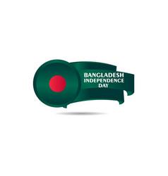 Bangladesh independence day template design vector
