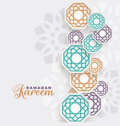 Beautiful ramadan kareem islamic decoration vector