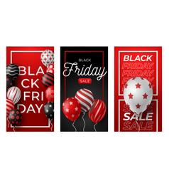 black friday vertical banner for stories set vector image
