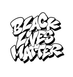 Black lives matter font in graffiti style vector