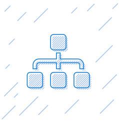 Blue business hierarchy organogram chart vector