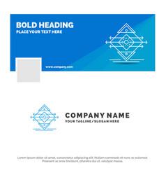Blue business logo template for traffic lane road vector