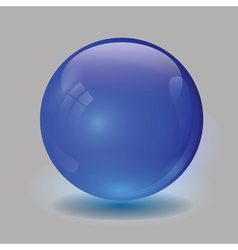 blue glass ball vector image