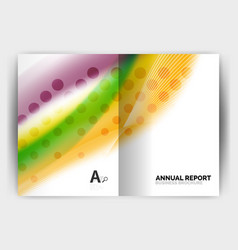 Blur wave business print template abstract vector