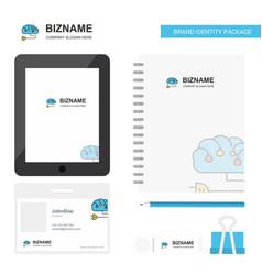 brain circuit business logo tab app diary pvc vector image