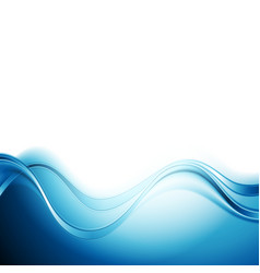 Bright blue abstract water waves design vector image