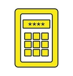 Calculator isolated icon vector image
