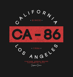 California los angeles t-shirt design athletic vector