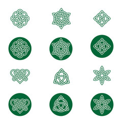 celtic knot icons vector image
