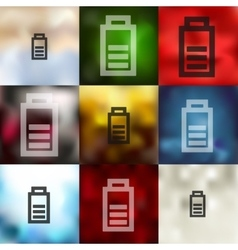 charge the battery icon on blurred background vector image