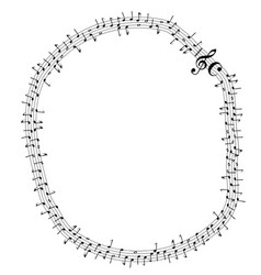circular musical notes vector image
