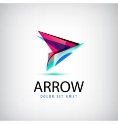 Colorful abstract logo arrow logo Web vector