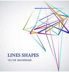 Colorful Lines shapes abstract isolated on white vector
