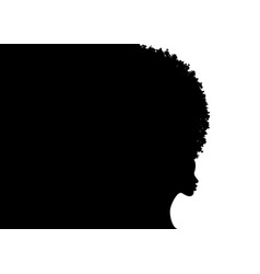 curly afro hair portrait african women template vector image