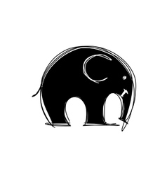 Cute elephant sketch for your design vector