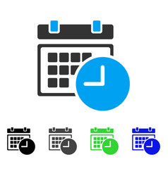 date and time flat icon vector image
