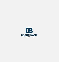 Db letter logo design template vector