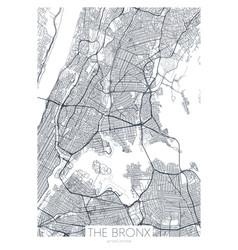 Detailed borough map bronx new york city vector