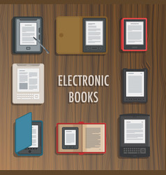 electronics reader book collection vector image