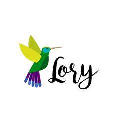 Exotic tropical lory bird vector