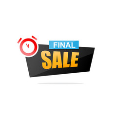 final sale promotional banner vector image