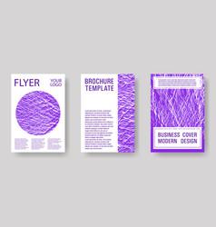 Flyer poster graphic design set vector