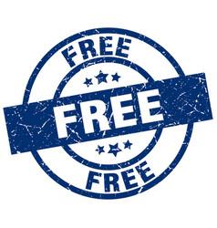 Free blue round grunge stamp vector