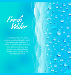 Fresh water promotion ecological poster vector image