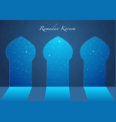 graphic of a mosque windows vector image